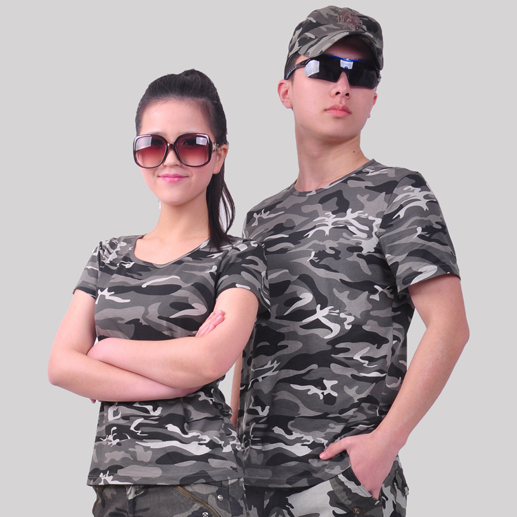 情侣迷彩短袖T恤圆领夏迷彩服511长袖t恤男特种兵军迷T恤女军装秋
