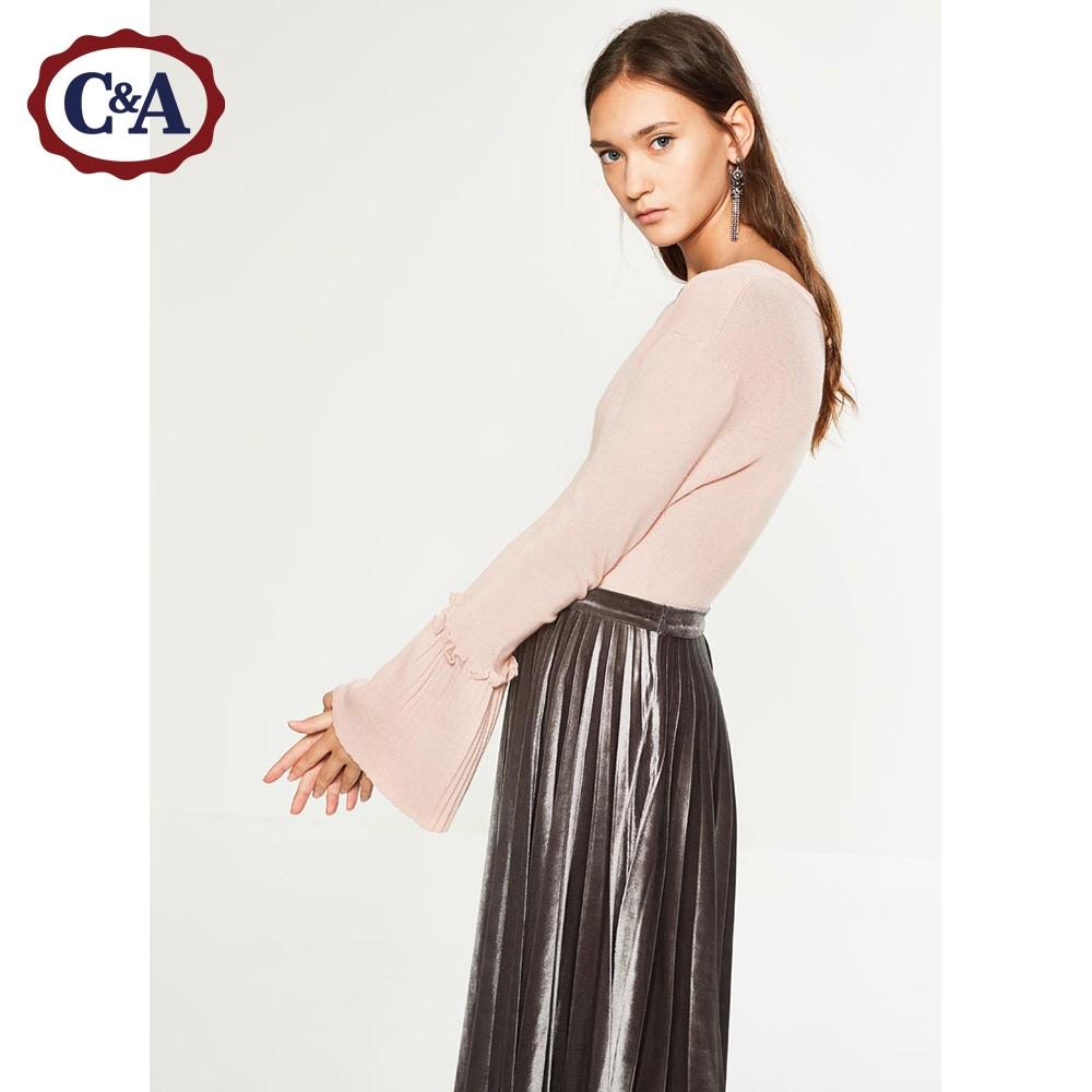 C&A 女士喇叭袖针织衫 129元包邮