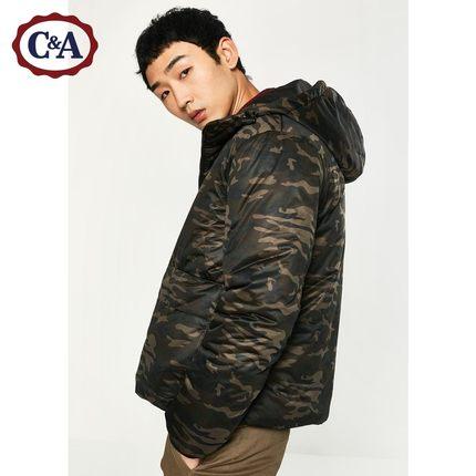 双11预告: C&A 200198606 男式简约贴袋棉服外套 239.4元包邮