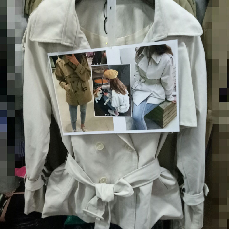 YUYEE_waitmore小个子洋气短款风衣女薄款2019秋韩版宽松气质外套