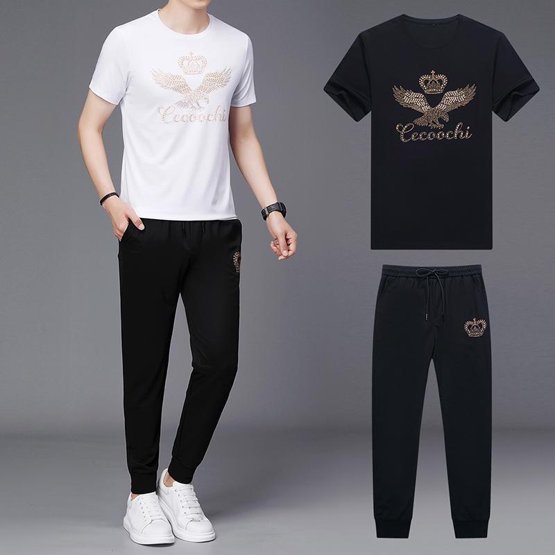 21夏款男士运动休闲短袖长裤套装ACW5705 P130