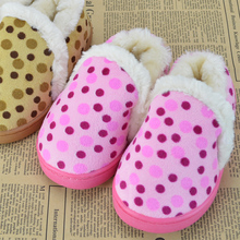 The latest little private children aged 2 to 4 bag with cotton slippers cotton shoes kids winter warm shoes