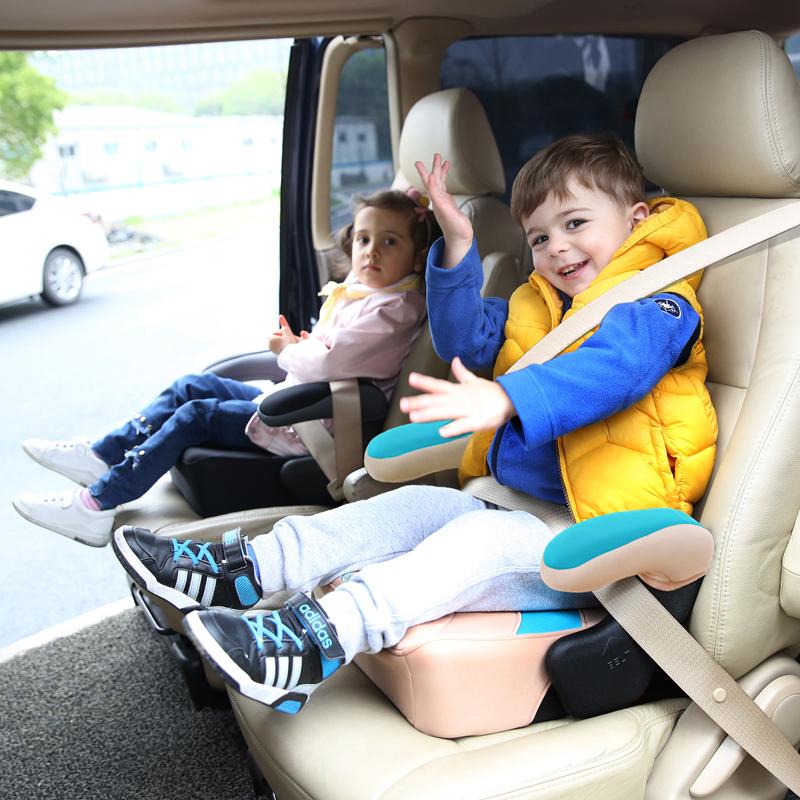 3-12岁汽车用儿童宝宝安全座椅增高垫大童车载便携简易坐垫ISOFIX
