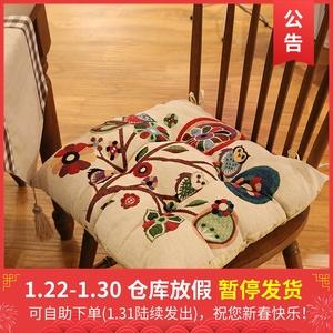 经典美式复古乡村全棉四季椅垫餐椅坐垫套纯棉布艺居家坐垫多色选