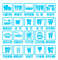 763 Poster printed Display board photo sticker material 1681 Hospital Dental Clinic oral tooth small sign chart