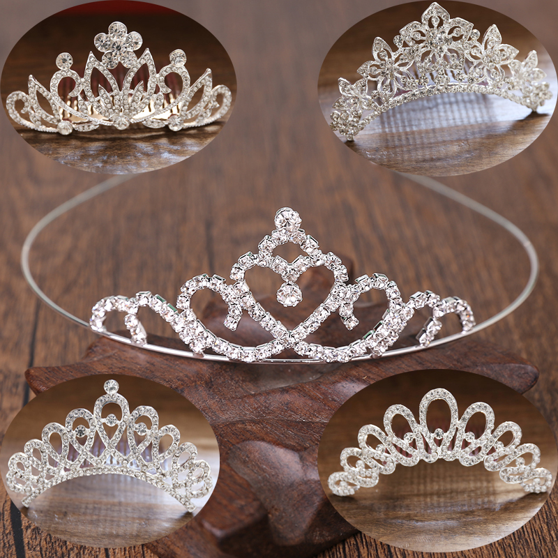 New childrens crown hairband princess crown cute Diamond Girls hair accessories hair comb little girl hairpin accessories