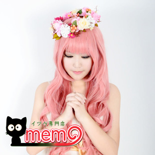 MEMO Vocaloid magnet patrol tone smoke powder volumes 80CM high temperature wire COS wig air volume