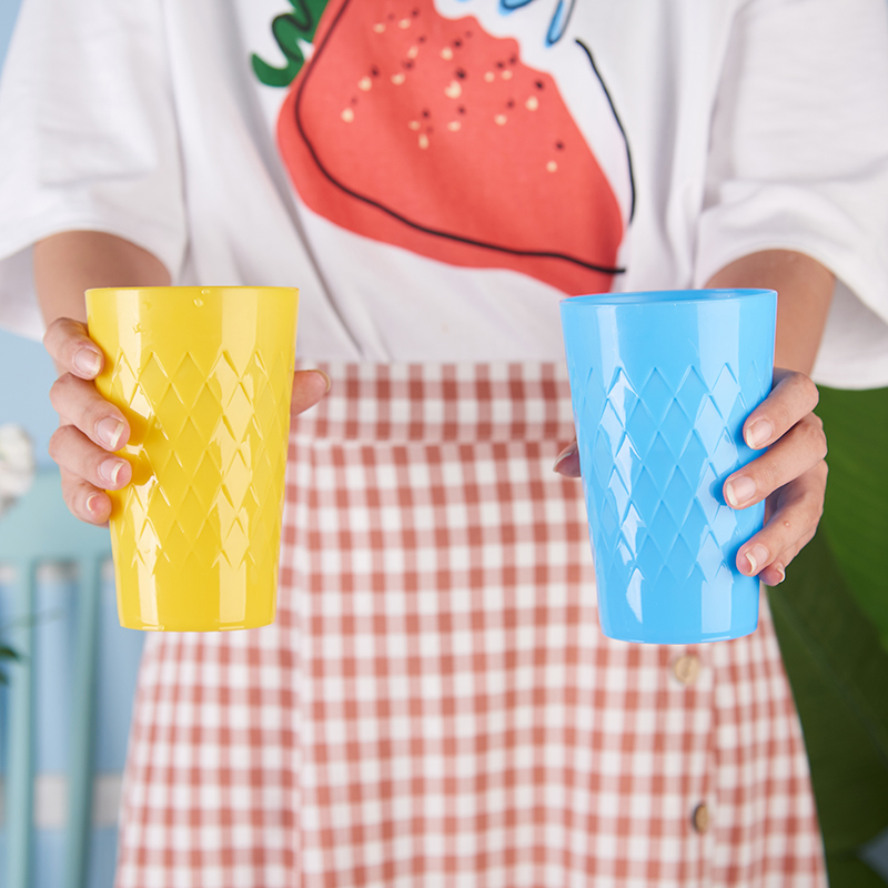 Round drink juice cup dance song cup dance performance props special cup student antiskid color plastic cup