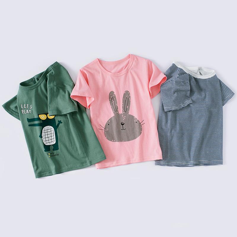 儿童短袖T恤纯棉男童夏季打底衫中小童装宝宝半袖上衣服男童潮A类