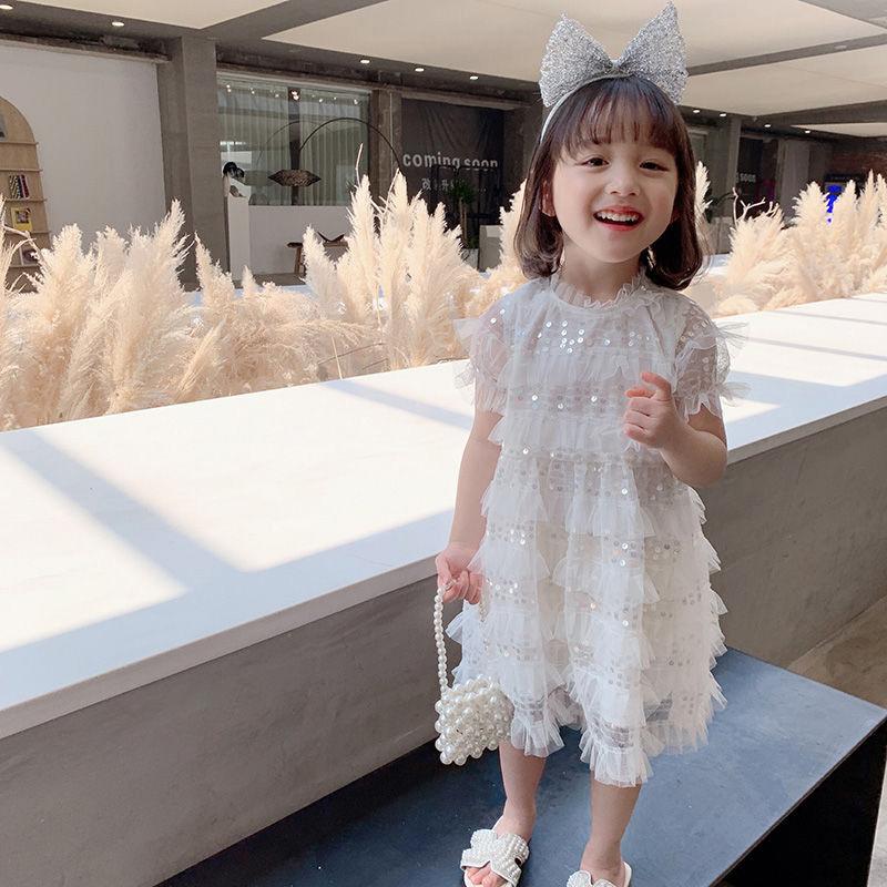 女童连衣裙2020夏装新款儿童洋气蓬蓬公主裙子宝宝夏季网纱仙女裙
