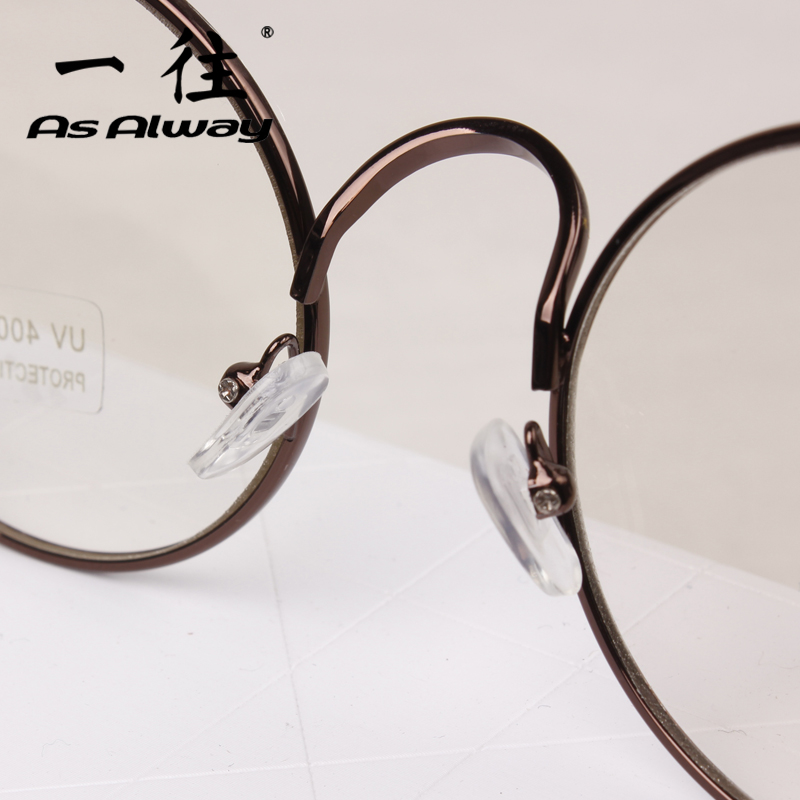 d7d612c7f8c Round retro metal eyeglass frame Harajuku fashion for men and women myopia  frame glasses tide Prince