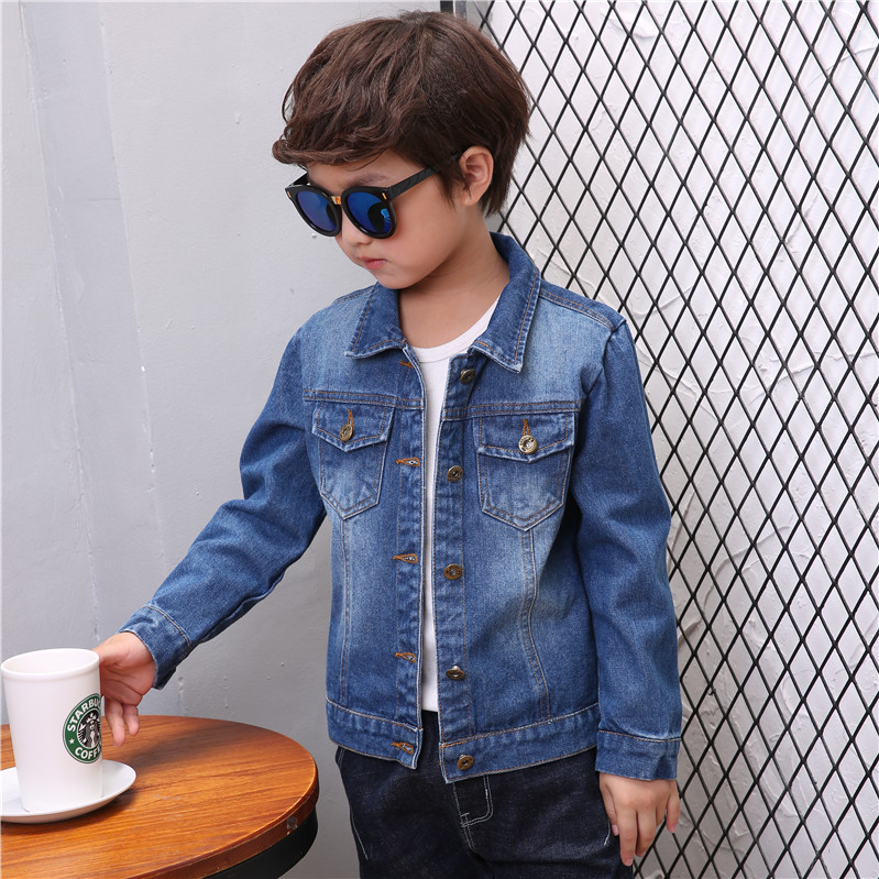 Boys denim jacket Korean Trend 2020 new childrens clothes middle school childrens pure cotton jacket spring and autumn coat