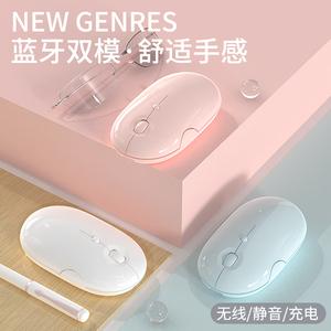 蓝牙无线鼠标充电静音男女生适用联想苹果戴尔惠普小米笔记本电脑