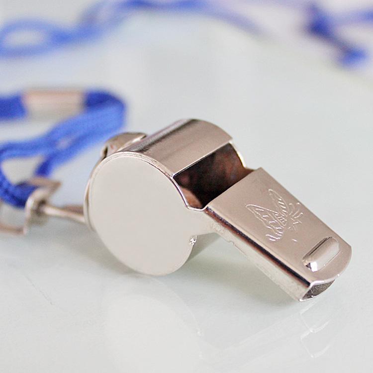 消防盒装裁判口哨金属哨子 不锈铁口哨 运动口哨求生口哨带挂绳