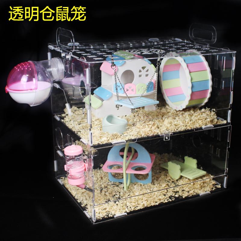 Прозрачная клетка интерьер Роскошный замок Crystal Crystal Super Villa один двухслойный Базовая клетка mini комплект
