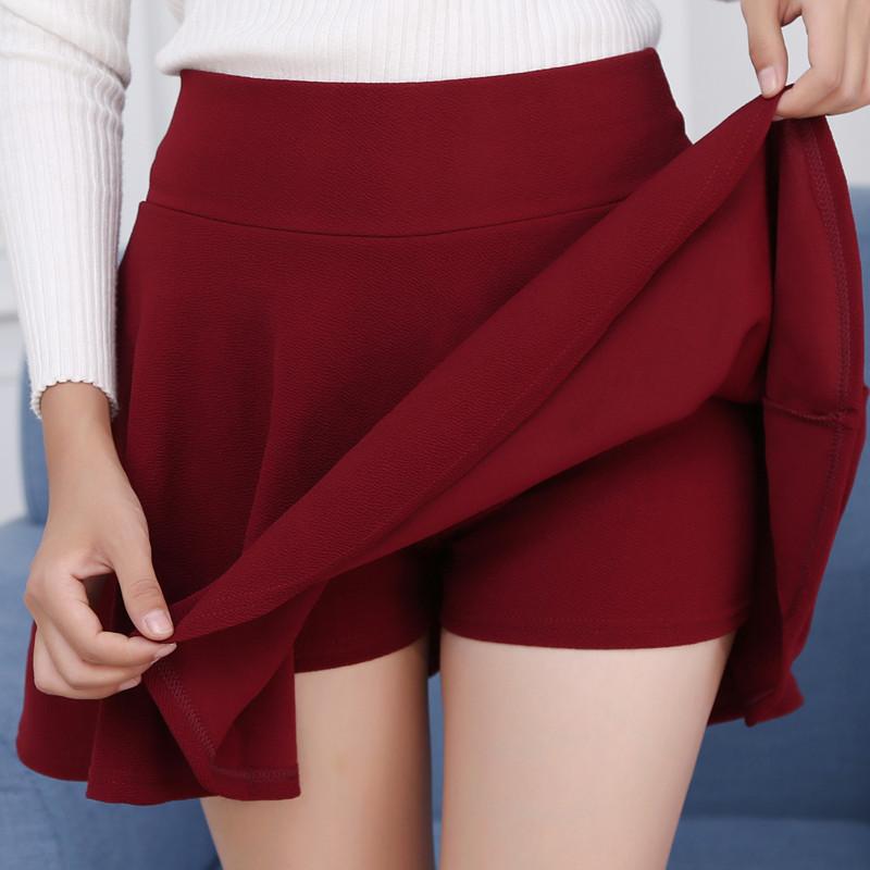 [ap02] new 2020 womens large skirt anti light Korean sun skirt lining pleated skirt