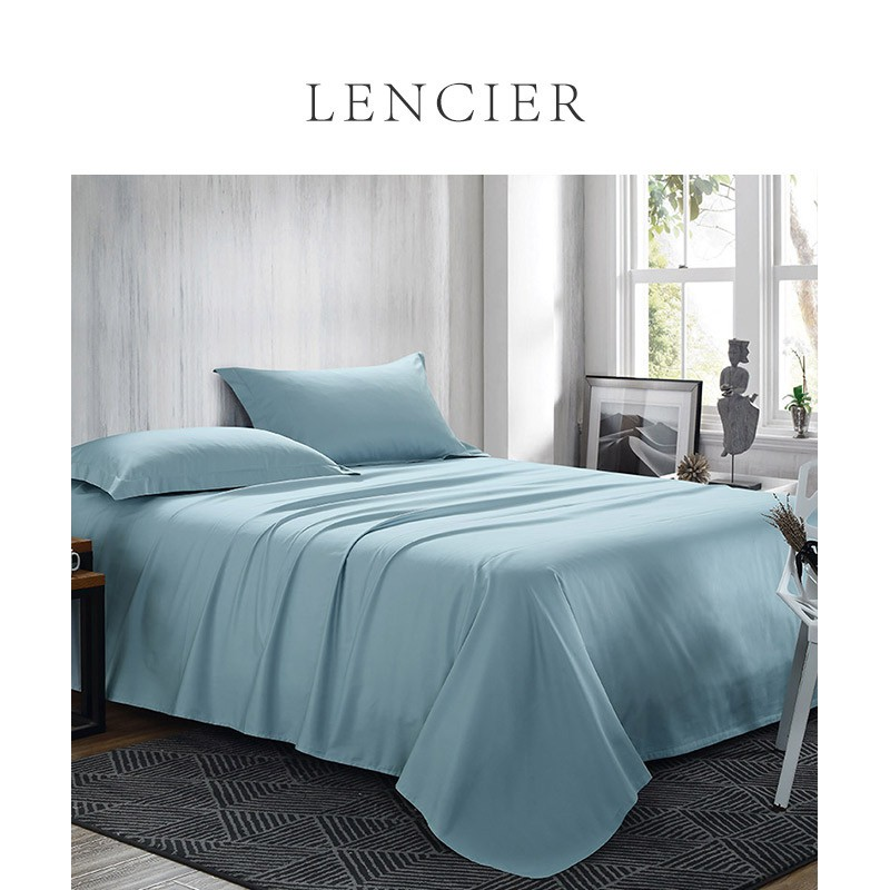 Lencier is very comfortable to sleep. Nordic style pure cotton bed sheet 1.5m 1.8m bed