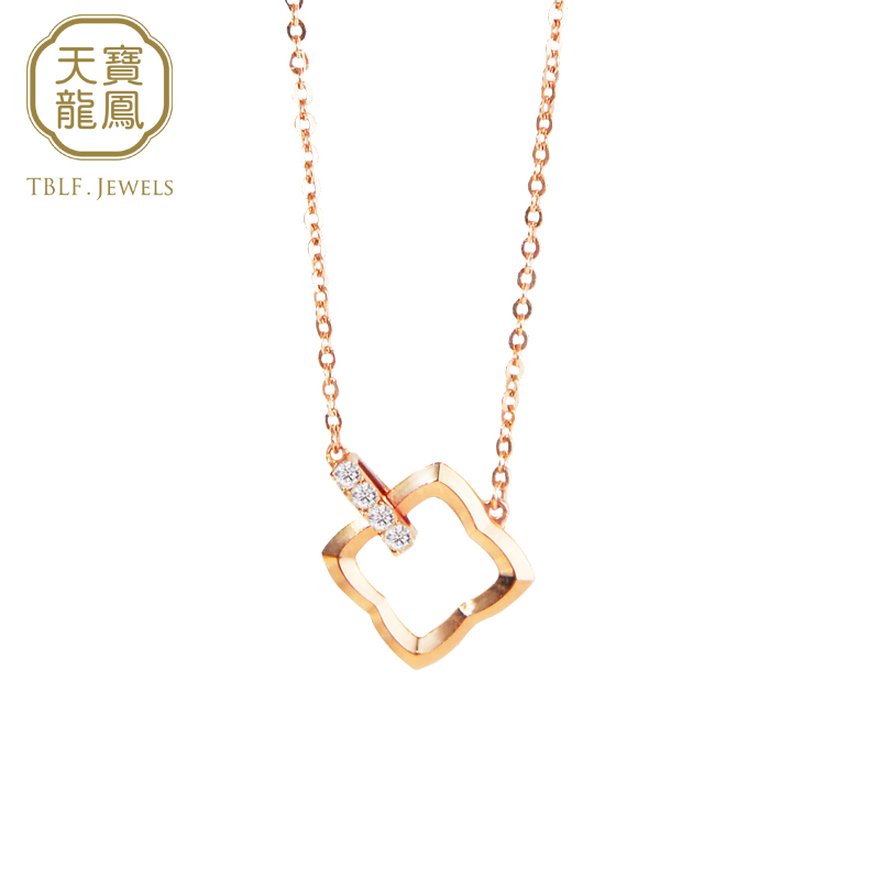 Tianbao Longfeng Tianbao Longfeng attachment series lucky star g18k gold diamond necklace K gold jewelry