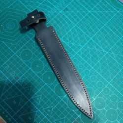 定制手工头层牛皮尖刀刀套不含刀具双刃刀鞘刀库户外套厨刀保护套