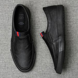 2020新款男鞋春季潮鞋休闲皮鞋男士一脚蹬懒人鞋子男韩版潮流板鞋