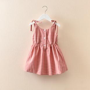 女童連衣裙夏女孩公主衣裙韓版童裝夏季兒童吊帶裙女寶寶洋氣裙子