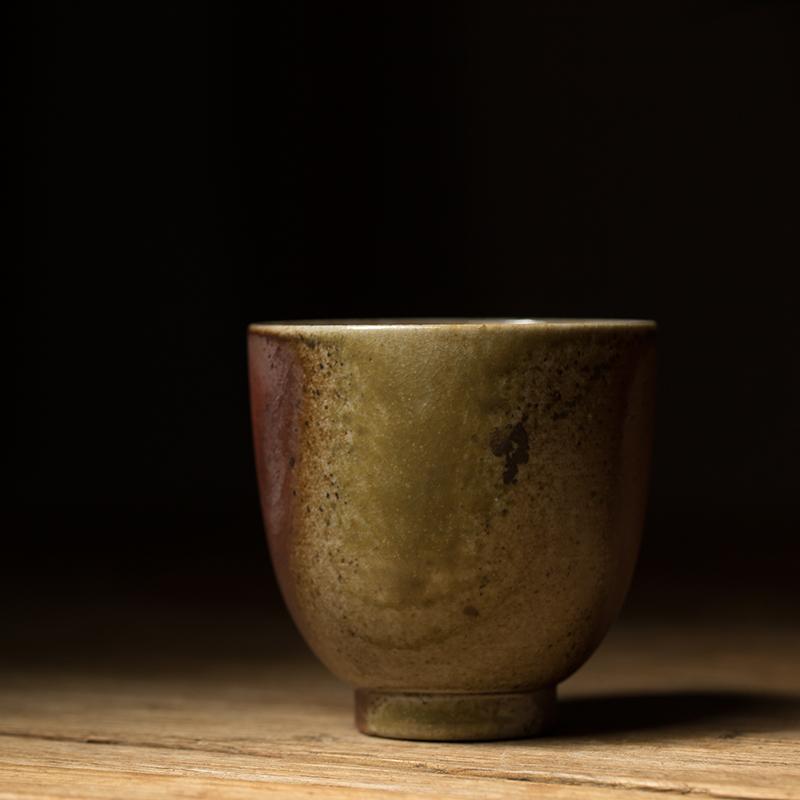 德馨阁纯手工古法柴烧陶制品茗杯主人杯功夫喝茶杯景德镇柴窑陶瓷