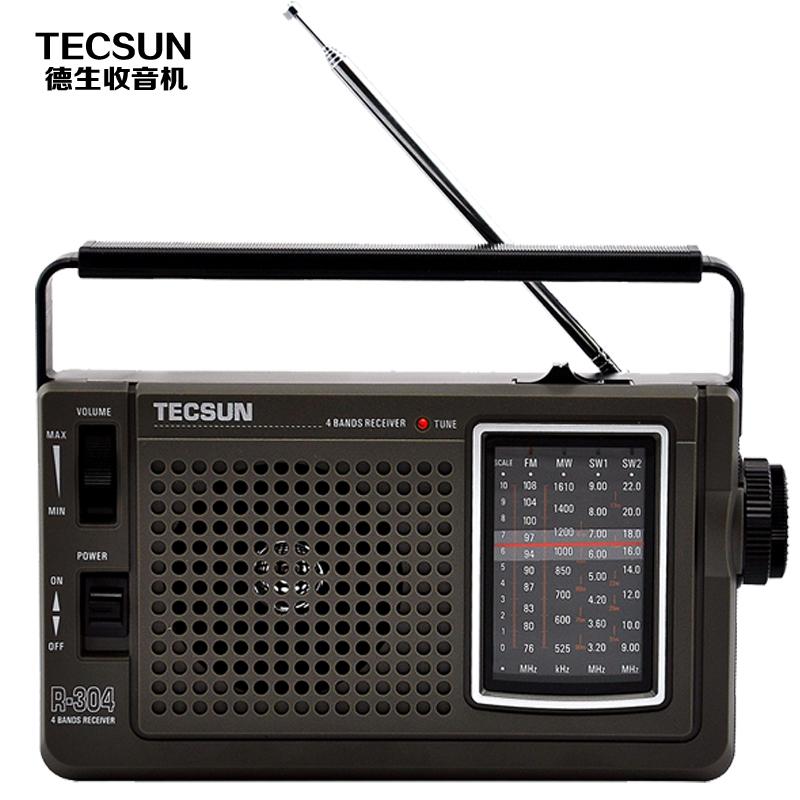 Tecsun 德生 R~304收音機正品台式便攜指針式全波段老年人交流電