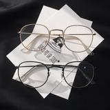 韩版潮复古文艺眼镜框女ins超火的眼镜素颜网红款超轻眼镜 配近视