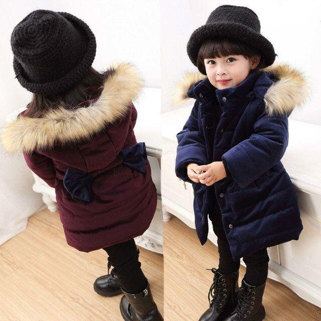 女童棉衣中长款6女孩棉袄加厚2冬季3岁女宝宝冬装外套羽绒棉服4-5