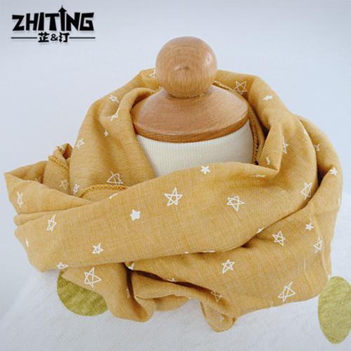 純色 寶寶百搭男童圍巾