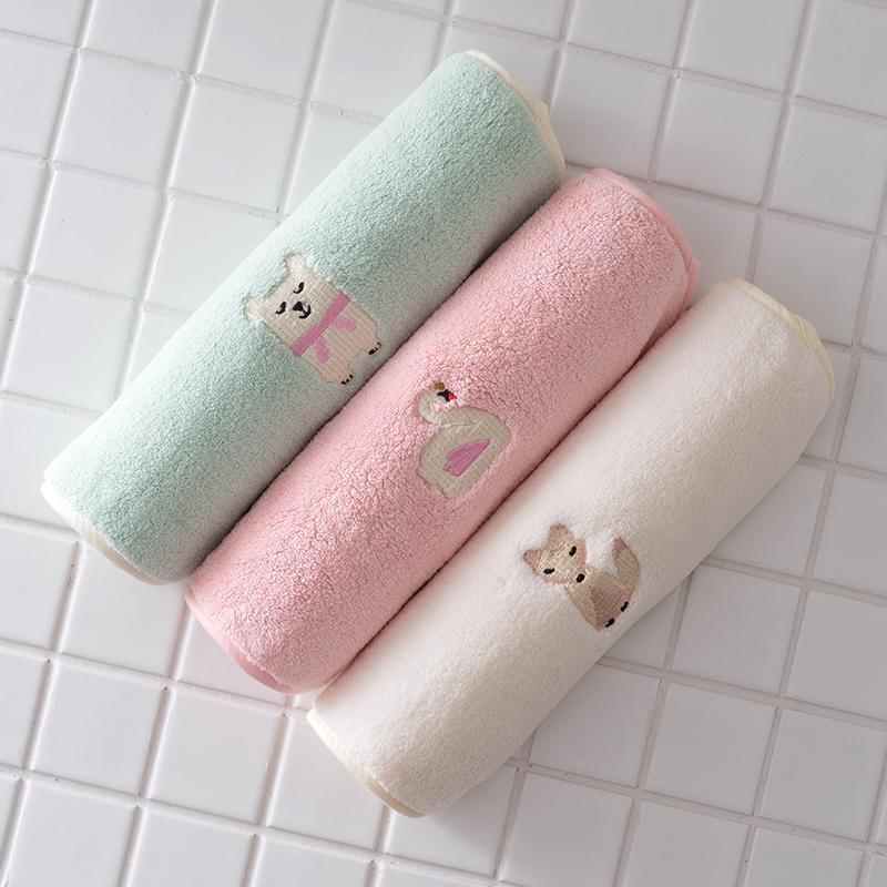 4条装 宝宝儿童洗脸小毛巾童巾洗脸巾比纯棉吸水柔软-纯棉毛巾(温家乐旗舰店仅售18.9元)