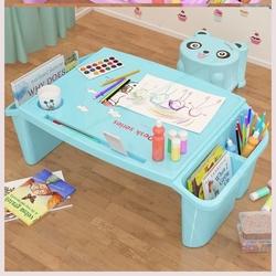 书桌幼儿园凳子塑料桌绘画卡通长方形儿童写字桌小型家用经济型