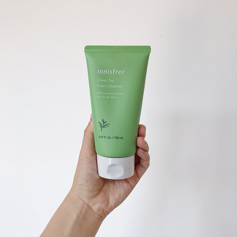 Sweet and beautiful green tea Foam Cleansing Cream Cleanser cleanser oil control deep cleaning 150ml