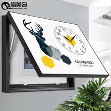 电表箱装饰画带钟表遮挡配电箱电闸盒总开关盒挂画免打孔北欧壁画