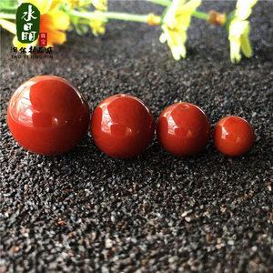 5a天然南红玛瑙散珠单珠12/14/16/18MM 配珠柿子红满肉猛料南红