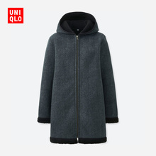 Women Printed Fleece Hooded Coat (Long Sleeve) 412918 Uniqlo UNIQLO