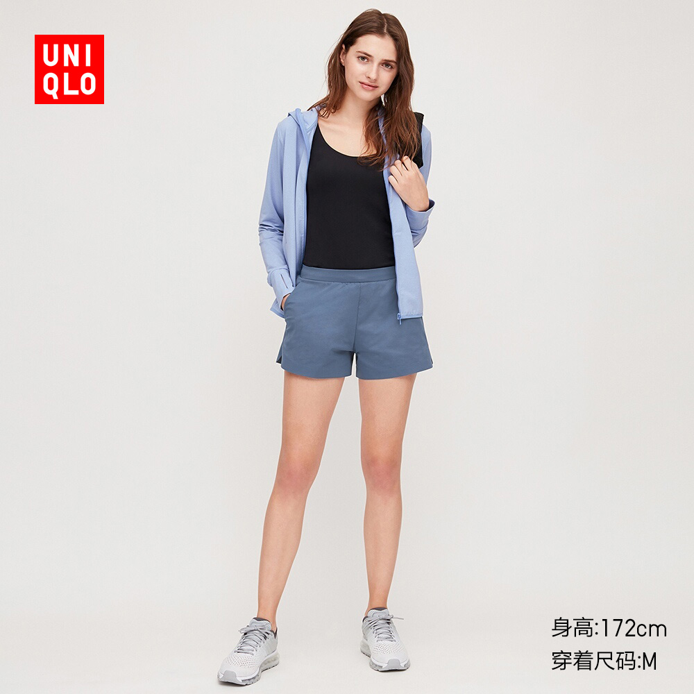 Women's high elastic sports shorts 422814 UNIQLO
