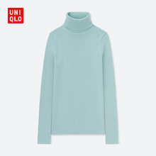 Women's wear worsted Merino rib two Lapel sweater (long sleeves) 408716 UNIQLO UNIQLO