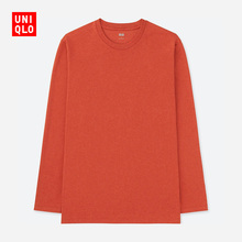 Men's Soft Round Neck T-Shirt (Long Sleeve) 408969 Uniqlo UNIQLO