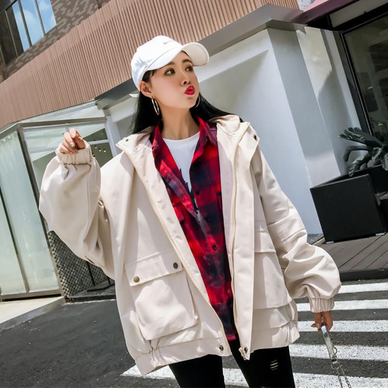 [一姐范日韩平价女装短外套]春秋季新款韩版宽松大码bf学生夹克港月销量3690件仅售79元
