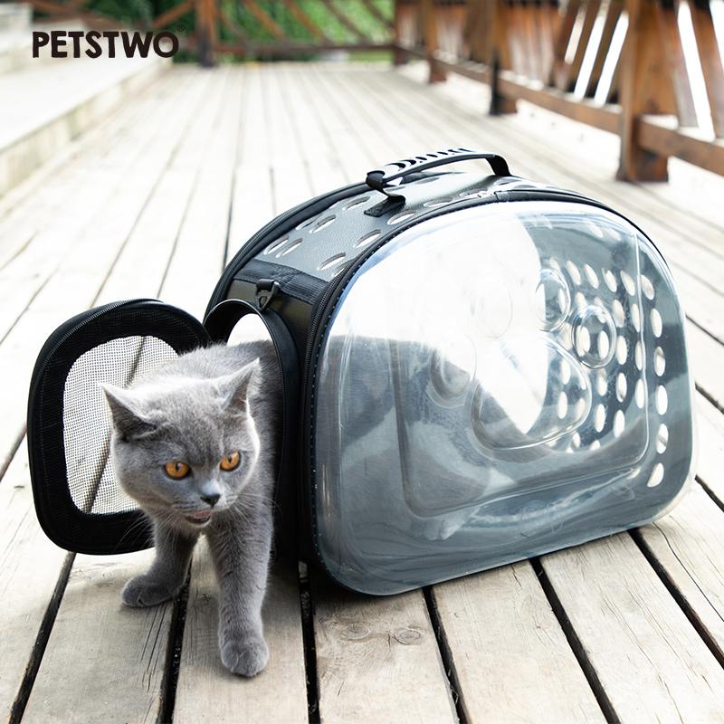 热销20件手慢无Petstwo猫包宠物背包猫咪外出便携太空舱包猫笼子手提宠物包