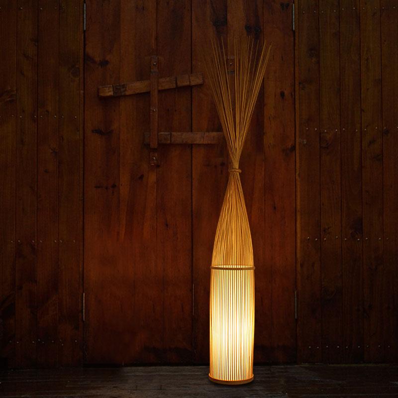 东南亚日式竹编禅意会所客厅卧室茶室中式酒店大堂宜家创意落地灯