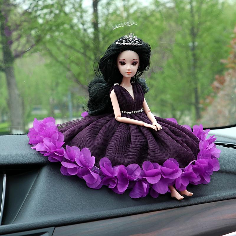 汽车摆件车饰婚纱公主娃娃可爱蕾丝花瓣车载内饰时尚车饰品
