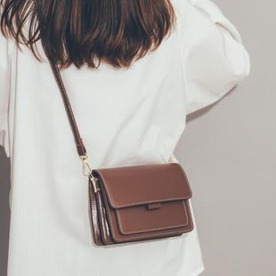 网红质感包包女包新款2021流行斜挎包女百搭ins风简约复古小方包
