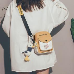 可爱新款2021韩版ins古着感小包包