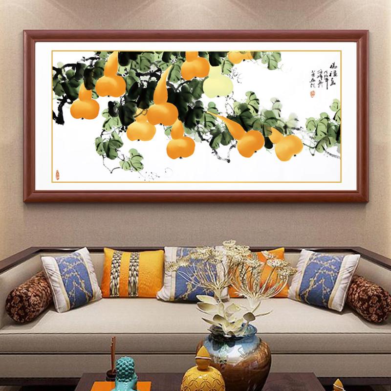 新中式实木沙发墙画书房客厅装饰画