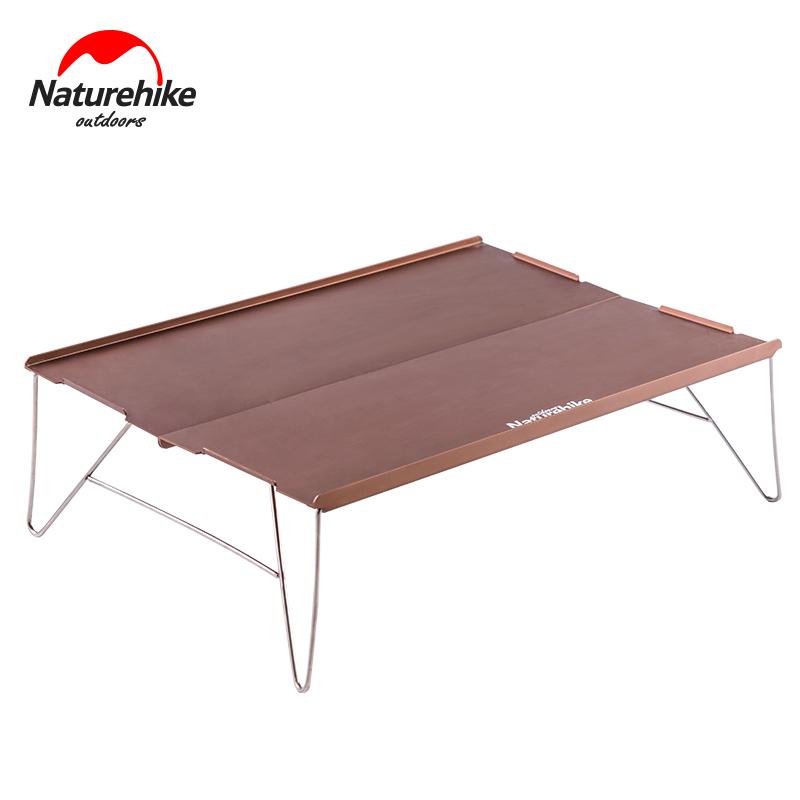 野外登山露营迷你餐桌茶桌挪客户外超轻便捷式铝合金折叠桌NH