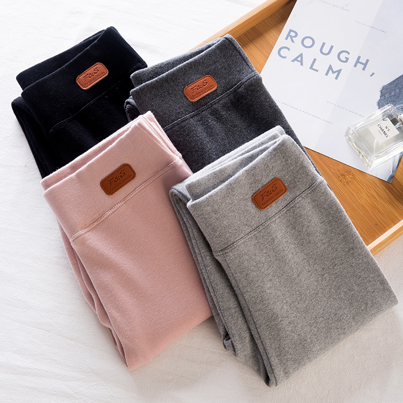 灰色打底裤女外穿2020春秋新款纯棉弹力紧身黑色显瘦瑜珈裤夏薄款