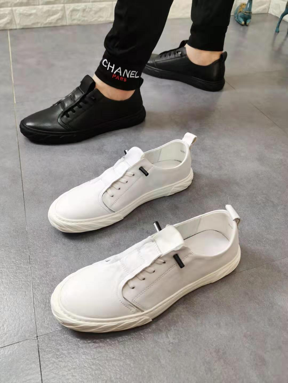 男鞋2019新款纯牛皮小耳朵网红气质洋气时尚个性英伦风潮鞋流行