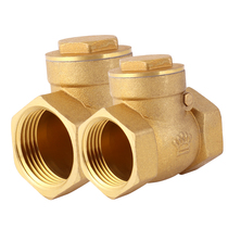 Horizontal check valve brass check valve anti-pump pipe water valve stainless steel 4 minutes 6 minutes 1 inch
